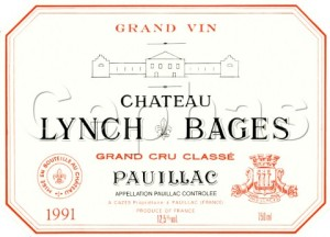 1187438_Wine_label_of_Chteau_LynchBages_1991___Pauillac__Bordeaux