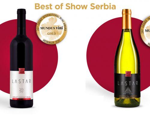 Best of Show i dva zlata za vinariju Lastar